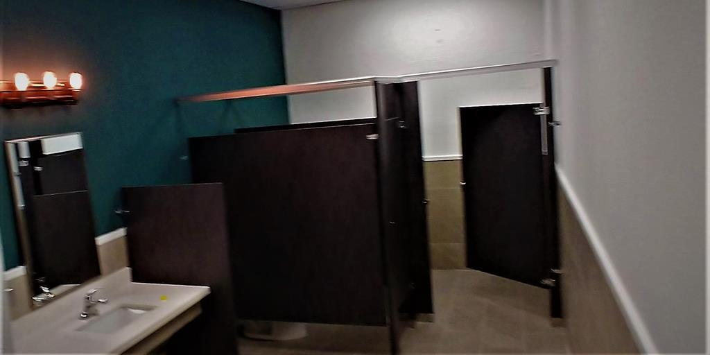 Men and Women Restroom Stalls