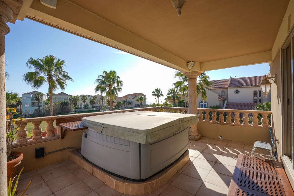 Master Balcony Hot Tub
